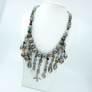 Incredible handcrafted metal statement necklace